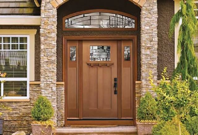 Stained Fiberglass Craftsman Door Sidelites Amp Transom